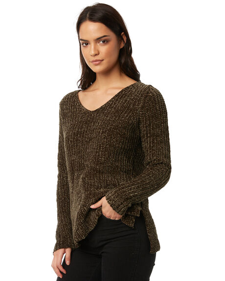 KHAKI WOMENS CLOTHING ALL ABOUT EVE KNITS + CARDIGANS - 6495700KHK