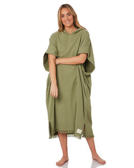 MOSS GREEN WOMENS ACCESSORIES THE BEACH PEOPLE TOWELS - TB-T58-07-AWMGR