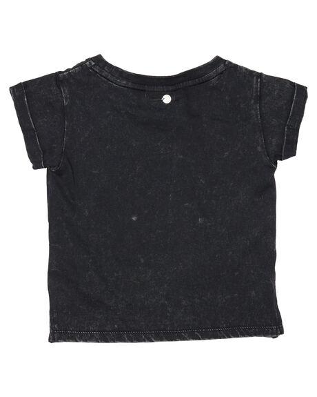 WASHED BLACK KIDS GIRLS EVE GIRL TOPS - 9380004WBLK