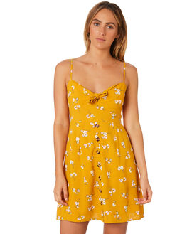 YELLOW WOMENS CLOTHING TROUBLE LOVES COMPANY DRESSES - T8188445YELLW