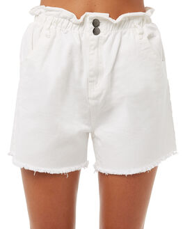 WHITE WOMENS CLOTHING BILLABONG SHORTS - 6585273WHT