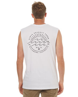 WHITE MENS CLOTHING BILLABONG SINGLETS - 9572513WHT