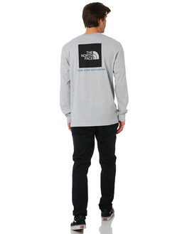 HEATHER GREY BLACK MENS CLOTHING THE NORTH FACE TEES - NF00CA0EGAU