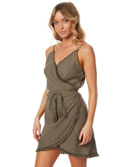 OLIVE WOMENS CLOTHING RIP CURL DRESSES - GDRFF10058