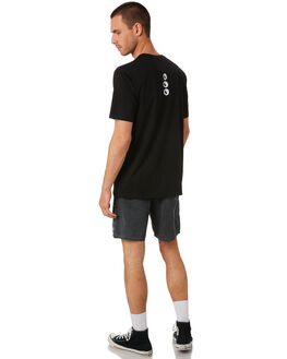 BLACK MENS CLOTHING TOWN AND COUNTRY TEES - TTE416ABLK