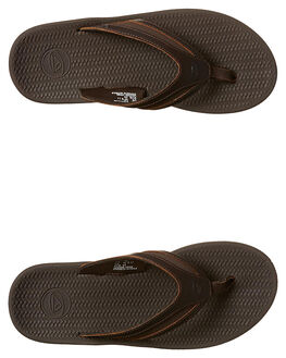 BROWN MENS FOOTWEAR REEF THONGS - A32X1BRO