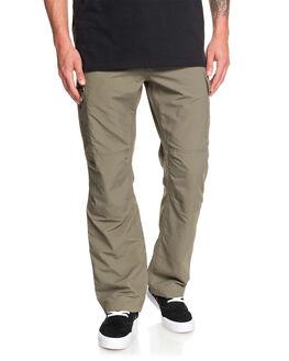 DUSTY OLIVE MENS CLOTHING QUIKSILVER PANTS - EQMNP03020-GPB0
