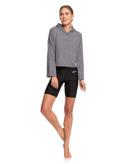 CHARCOAL HEATHER WOMENS CLOTHING ROXY ACTIVEWEAR - ERJKT03680-KTAH
