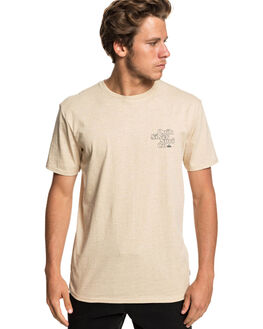 WARM SAND HEATHER MENS CLOTHING QUIKSILVER TEES - EQYZT05230-TGSH