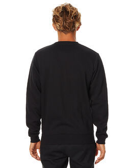 BLACK MENS CLOTHING SWELL JUMPERS - S5164445BLK