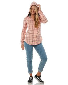 FUSION CORAL WOMENS CLOTHING HURLEY FASHION TOPS - AGLS3WLFCR