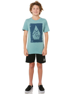 SEA BLUE KIDS BOYS VOLCOM TEES - C5741701SBL