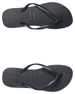 BLACK WOMENS FOOTWEAR HAVAIANAS THONGS - 40000300090