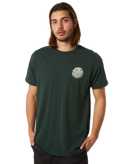 FOREST GREEN MENS CLOTHING RIP CURL TEES - CTEMB20056