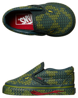 REPTILE GREEN KIDS TODDLER BOYS VANS FOOTWEAR - VN-A32QJQQHGRN
