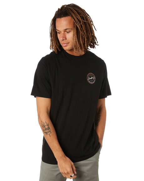 BLACK MENS CLOTHING SWELL TEES - S5222002BLK