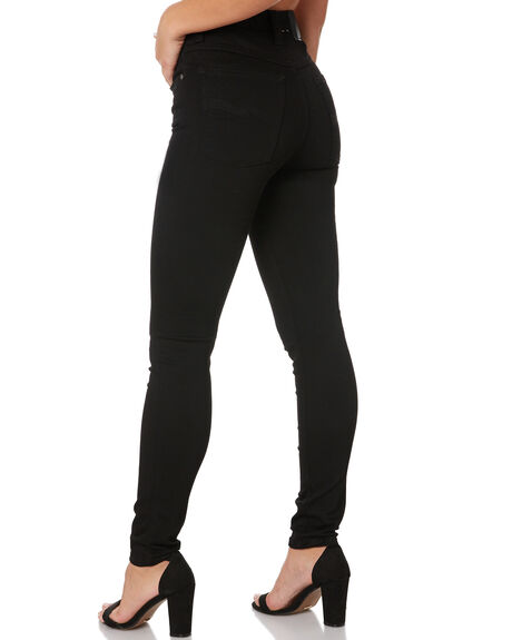 EVER BLACK WOMENS CLOTHING NUDIE JEANS CO JEANS - 113021EBLK