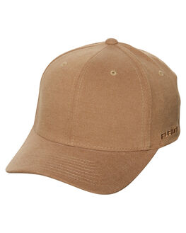 MELANGE KHAKI MENS ACCESSORIES FLEX FIT HEADWEAR - 161601MEKH