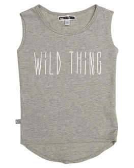 GREY MARLE KIDS TODDLER GIRLS SWEET CHILD OF MINE SINGLETS - WILDTHINGMSCLGRY