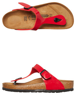 PATENT TANGO RED WOMENS FOOTWEAR BIRKENSTOCK FASHION SANDALS - 743191WRED