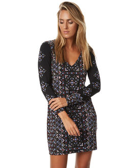BLACK WOMENS CLOTHING TIGERLILY DRESSES - T373421BLK