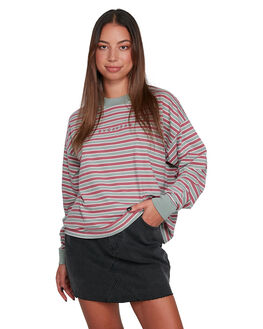 PLUM BERRY WOMENS CLOTHING RVCA TEES - RV-R207094-PBY