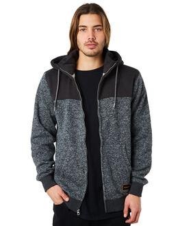 DARK GREY HEATHER MENS CLOTHING QUIKSILVER JUMPERS - EQYFT03831KRPH