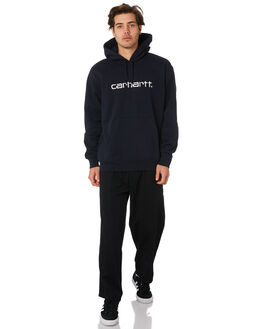 DARK NAVY WHITE MENS CLOTHING CARHARTT JUMPERS - I0262701C