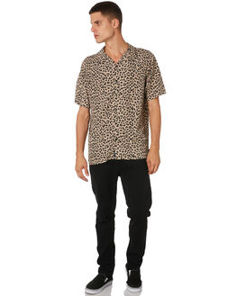 LEOPARD MENS CLOTHING THRILLS SHIRTS - TH9-208ZLEOPD