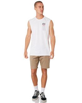 WHITE MENS CLOTHING HURLEY SINGLETS - AO8820100