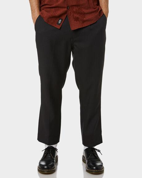 BLACK MENS CLOTHING THRILLS PANTS - TA21-409BBLK