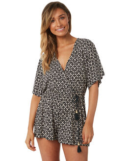 BLACK WOMENS CLOTHING TIGERLILY PLAYSUITS + OVERALLS - T382418BLK