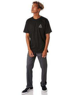 BLACK MENS CLOTHING HUF TEES - TS00793-BLACK