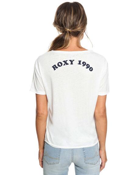 MARSHMALLOW WOMENS CLOTHING ROXY TEES - ERJZT04451WBT0
