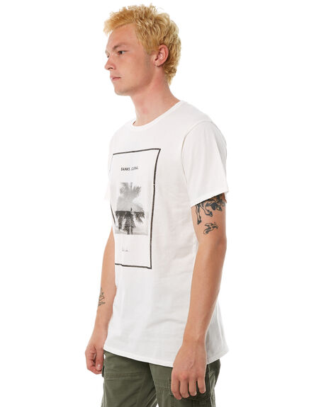 OFF WHITE MENS CLOTHING BANKS TEES - WTS0241OWH
