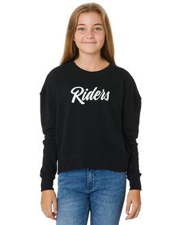 BLACK COAL KIDS GIRLS RIDERS BY LEE JUMPERS + JACKETS - R-80109T-N28