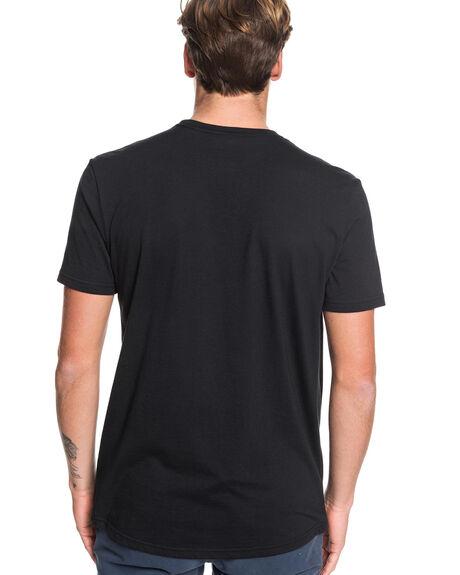 BLACK MENS CLOTHING QUIKSILVER TEES - EQYZT05454-KVJ0