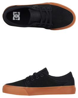 BLACK GUM KIDS BOYS DC SHOES SKATE SHOES - ADBS300138-BGM
