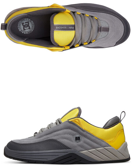 GREY/YELLOW MENS FOOTWEAR DC SHOES SNEAKERS - ADYS100539-GY1
