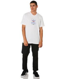 WHITE SCAR BLU BLACK MENS CLOTHING ADIDAS TEES - DU8341WSBB