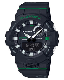 BLACK GREEN MENS ACCESSORIES G SHOCK WATCHES - GBA800DG-1ABLKGR