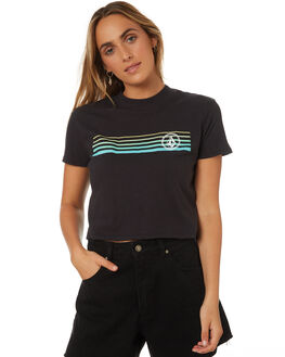 BLACK COMBO WOMENS CLOTHING VOLCOM TEES - B35318V1BLC