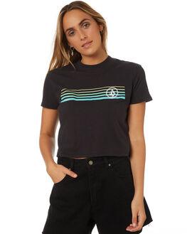 BLACK COMBO WOMENS CLOTHING VOLCOM TEES - B35318V1BLC