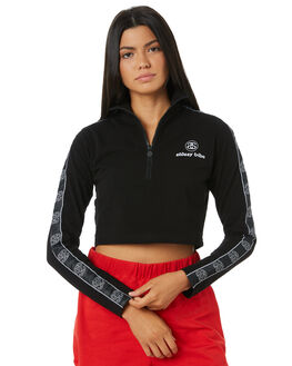BLACK WOMENS CLOTHING STUSSY JUMPERS - ST195104BLK