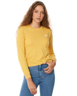FADED MUSTARD WOMENS CLOTHING AFENDS TEES - W181062FMUS