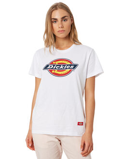 WHITE WOMENS CLOTHING DICKIES TEES - KW3190101WH