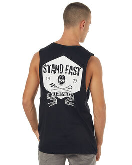 BLACK MENS CLOTHING SEA SHEPHERD SINGLETS - SSA835ABLK