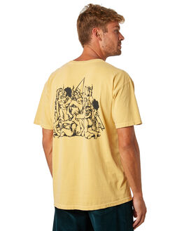 MUSTARD OUTLET MENS SURF IS DEAD TEES - SD18P6-02MUSTD