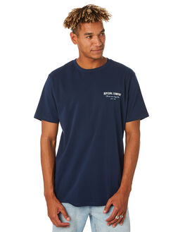 NAVY MENS CLOTHING RIP CURL TEES - CTESC20049