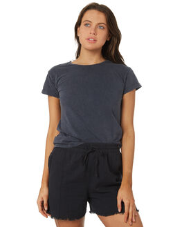 WASHED NAVY WOMENS CLOTHING SILENT THEORY TEES - 6015014NVY
